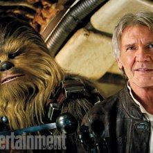 Star Wars: Episodio VII - Il Risveglio della Forza: Chewbacca e Han Solo (Harrison Ford)
