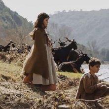 Pastorale cilentana: Mattia Oricchio insieme a un'altra giovane attrice