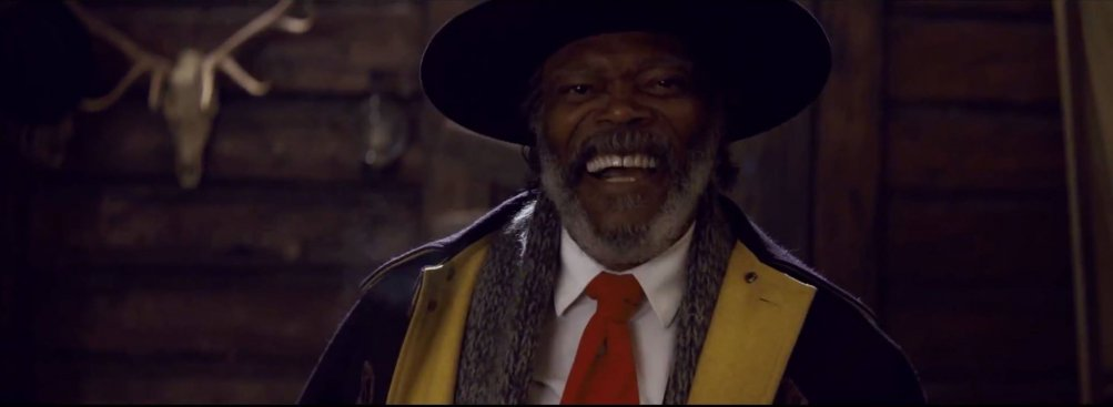 The Hateful Eight: Samuel L. Jackson in una scena del teaser trailer del film di Tarantino