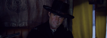 The Hateful Eight: Walton Goggins in una scena del teaser trailer del film di Tarantino