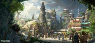 Star Wars Land: un concept art mostra il paesaggio