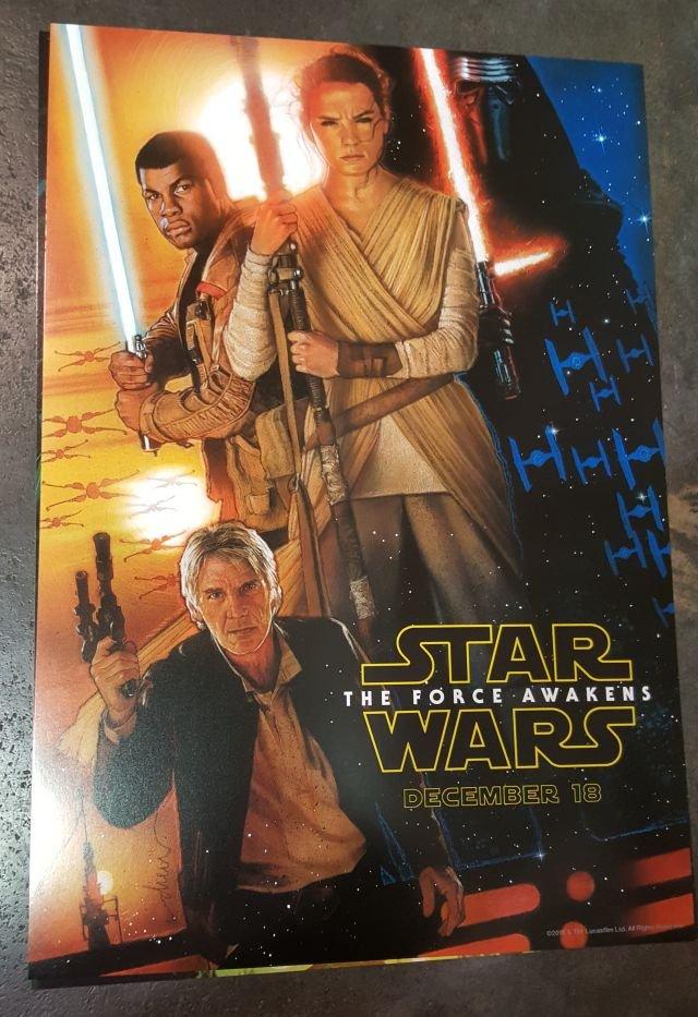 Star Wars: Episodio VII - Il Risveglio della Forza: un poster disegnato da Drew Struzan