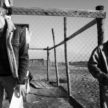 Non essere cattivo: Luca Marinelli e Alessandro Borghi in un'immagine dal set del film