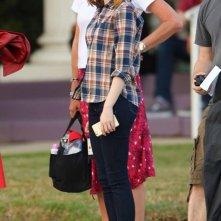 La La Land: Emma Stone durante le riprese del musical