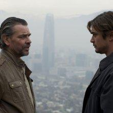 La prima luce: Riccardo Scamarcio e Alejandro Goic in un fotogramma tratto dal film