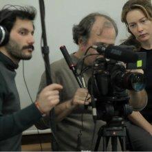 Milano 2015: Cristiana Capotondi al lavoro sul set insieme ai suoi collaboratori