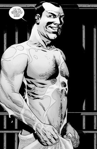 The Walking Dead, un'immagine di Negan dalla graphic novel