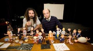 Anomalisa: una foto dal set con i modellini utilizzati nel film animato a passo uno
