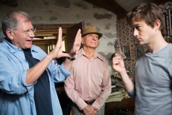 The Walk: il regista Robert Zemeckis con Joseph Gordon-Levitt e Ben Kingsley sul set del film