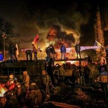 Winter on Fire: un'immagine tratta dal documentario ucraino