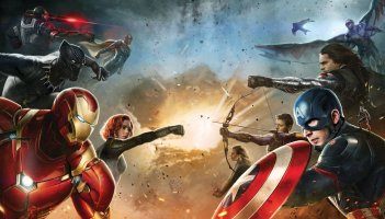 Captain America: Civil War - Un concept art di alcuni protagonisti del film