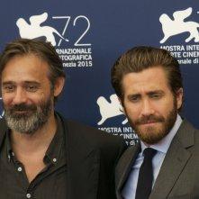 Everest: Jake Gyllenhaal con il regista Baltasar Kormákur al photocall di Venezia 2015