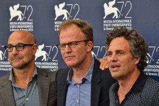 Spotlight: Mark Ruffalo, Stanley Tucci posano insieme al regista Thomas McCarthy al photocall di Venezia 2015