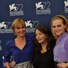Venezia 2015: Radha Michell, Sue Brooks e Odessa Young posano al photocall di Looking For Grace
