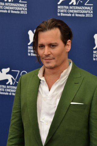 Venezia 2015: Johnny Depp al photocall di Black Mass