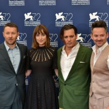 Venezia 2015: Johnny Depp,Dakota Johnson, Joel Edgerton e il regista Scott Cooper al photocall