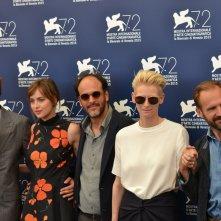 Venezia 2015: una foto del cast di A Bigger Splash al photocall