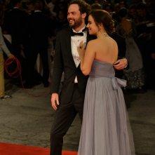 Venezia 2015: il regista Drake Doremus con sua moglie sul red carpet di Equals