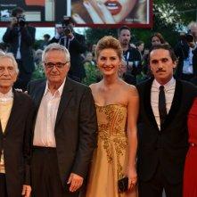 Venezia 2015: Marco Bellocchio, Roberto Herlitzka, Alba Rohrwacher e lidiya Liberman sul tappeto rosso di Sangue del mio sangue