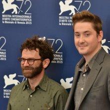 Venezia 2015: Charlie Kaufman e Duke Johnson per il photocall del film animato Anomalisa