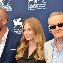 Venezia 2015: Jerzy Skolimowski, Paulina Chapko eWojciech Mecwaldowski al photocall del film 11 Minut