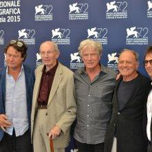 Venezia 2015: Atom Egoyan, Bruno Ganz, Heinz Lieven, Jurgen Prochnow posano al photocall di Remember