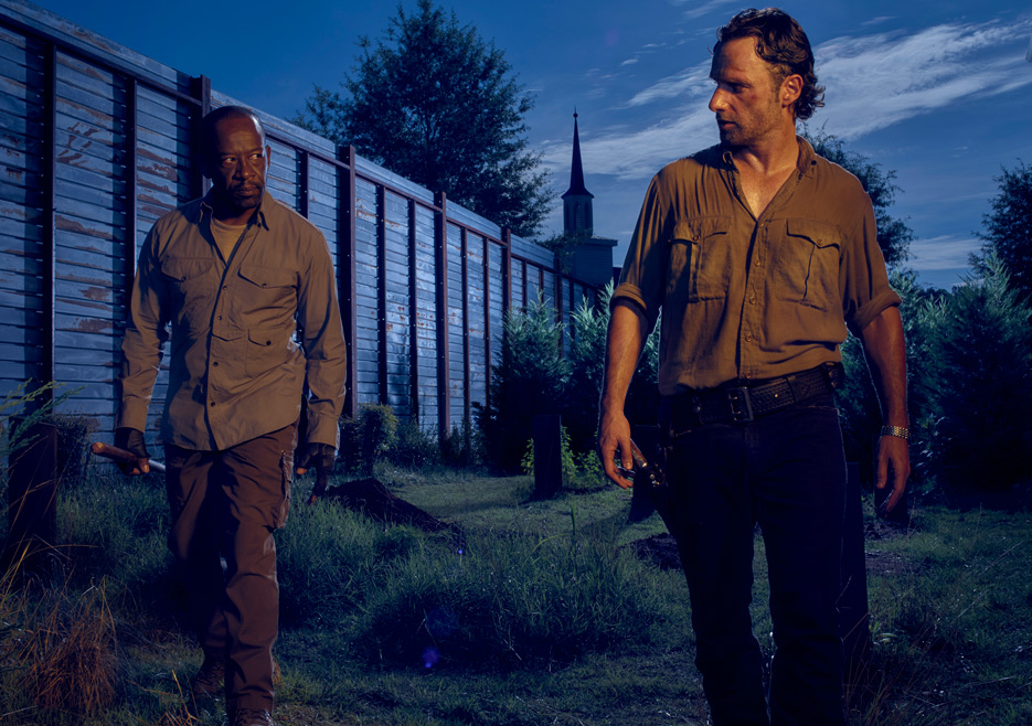 The Walking Dead: Andrew Lincoln e Lennie James nella sesta stagione