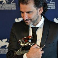 Venezia 2015: Il regista di El Clan, Pablo Trapero al photocall dei premiati