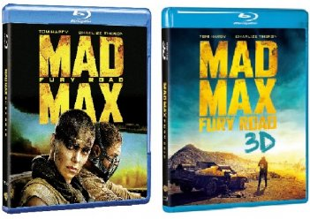 le cover dei blu-ray di Mad max: Fury Road