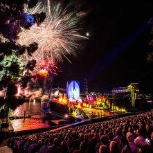Aida on Sydney Harbour: uno spettacolare momento della rappresentazione messa in scena dalla compagnia Opera Australia