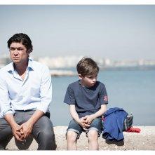 La prima luce: Gianni Pezzolla e Riccardo Scamarcio in un momento del film