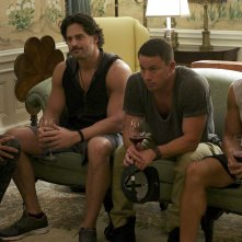 Magic Mike XXL: Kevin Nash, Joe Manganiello, Channing Tatum e Adam Rodriguez in una scena del film