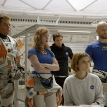 Sopravvissuto - The Martian: un'immagine del film con Matt Damon, Jessica Chastain e Kate Mara