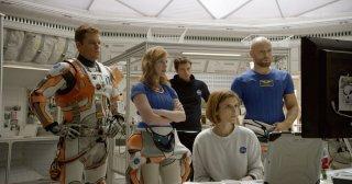 Sopravvissuto - The Martian: un'immagine del film con Matt Damon, Jessica Chastain e Kate Mara
