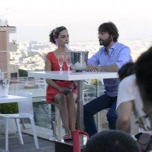 A Napoli non piove mai: Sergio Assisi e Valentina Corti sul set del film