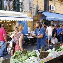 A Napoli non piove mai: Sergio Assisi durante le riprese del film