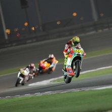 Fino all'ultima staccata: Valentino Rossi in azione
