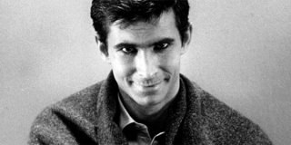 Anthony Perkins nel finale di Psycho