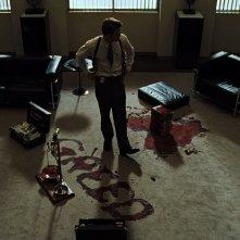 Brad Pitt sulla scena del crimine in SEVEN