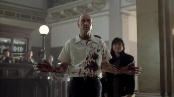 Kevin Spacey in una scena di SEVEN