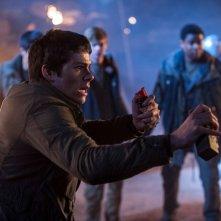 Maze Runner: La fuga, Dylan O'Brien in un momento d'azione del film