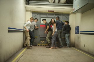 Maze Runner: La fuga, una scena d'azione tratta dal film