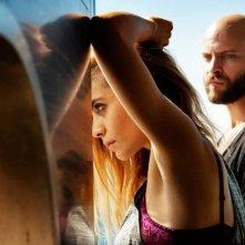Suburra: Greta Scarano in una suggestiva immagine tratta dal film