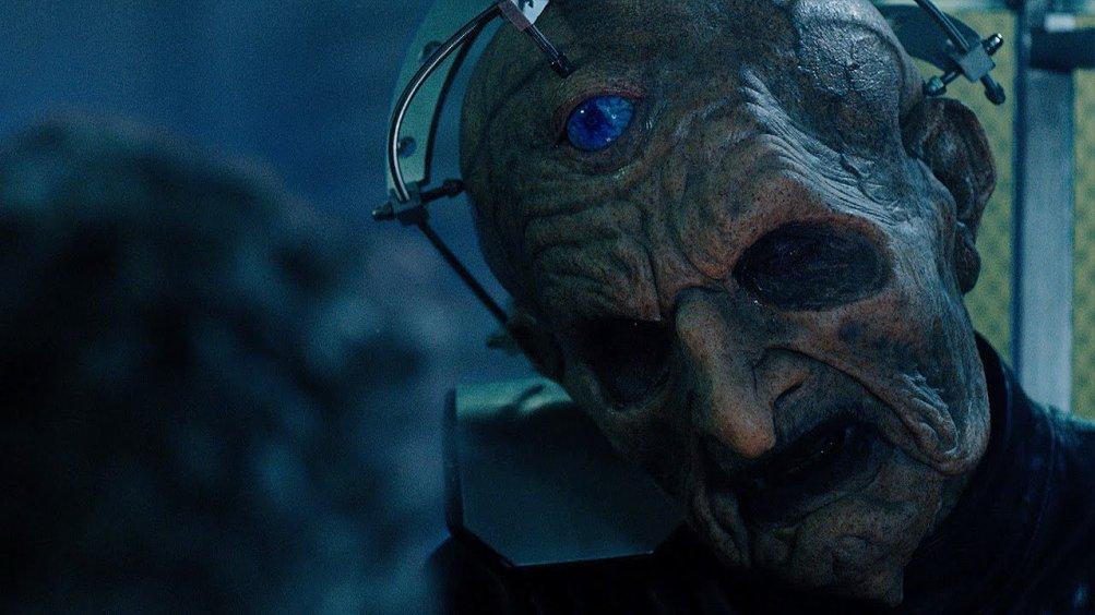 Doctor Who: Davros in un'immagine dell'episodio The Witch's Familiar
