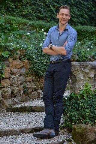 Crimson Peak: Tom Hiddleston posa al photocall