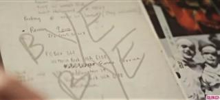 Una pagina del diario di Heath Ledger