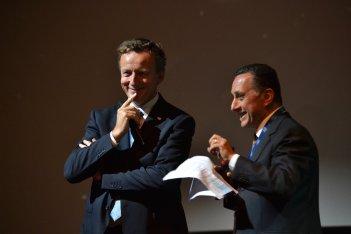 Roberto Battiston e Antonio Polito al convegno Uomo su Marte