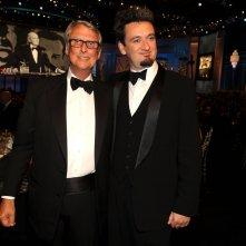 Mike Nichols con il figlio Max