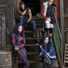 Descendants: Booboo Stewart, Cameron Boyce, Dove Cameron e Sofia Carson in una foto promozionale