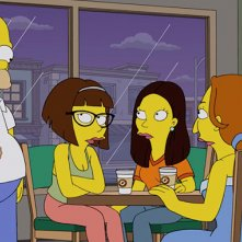 I Simpson: Homer fa un incontro al bar nell'episodio Every Man's Dream